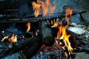 El fuego del asado