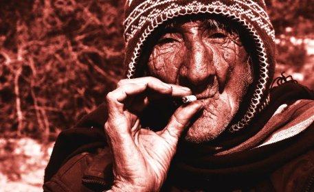 Fumador en el valle