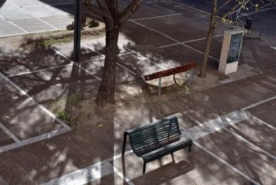 El banco de la plaza, Ciudad de Santa Fe, Santa Fe, Argentina