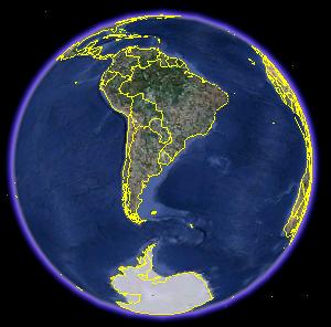 Imagen del Mundo tomada de Google Earth