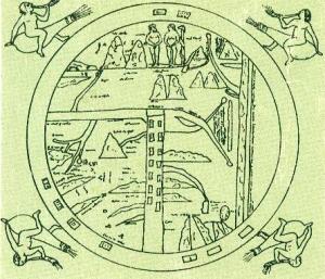 Imagen del Mundo Antiguo (de la tapa del libro Cartografía de Joly)