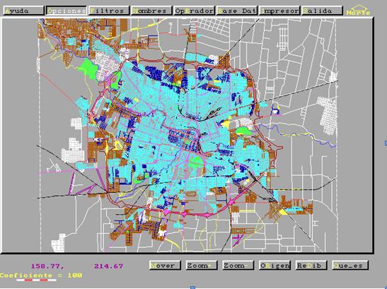 Captura de imagen de MicroGIS - Mapa de la Ciudad de Córdoba -