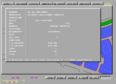 Captura de imagen de MicroGIS - Trabajo con datos alfanuméricos -