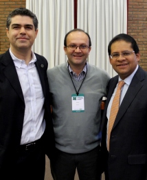 Mario Piumetto, Everton Da Silva y Gustavo Marulanda