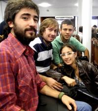 Estudiantes de Agrimensura de la UNC