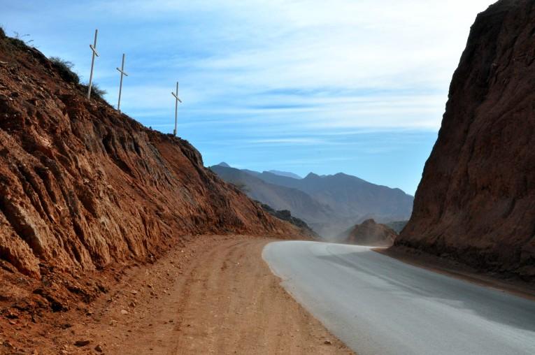 Paraje tres cruces, Camino Cafayate-Salta
