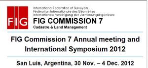 Reunión de Catastro de la FIG en San Luis, Argentina