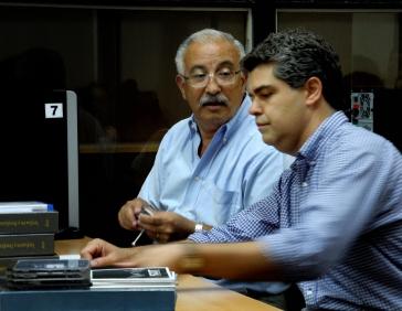 Profesores Mario Piumetto y Miguel Diaz Saravia