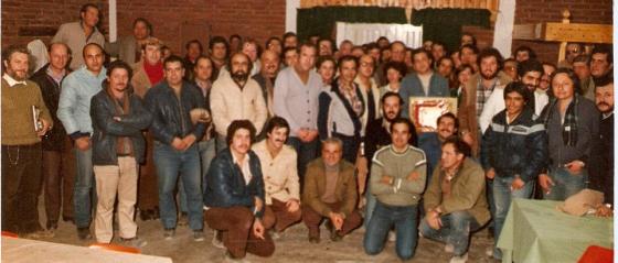 Fotografía del personal de Panedile S.A. en el Complejo Hidroélectrico Río Grande, Córdoba, Argentina