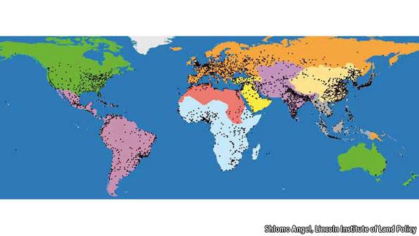 Mapa de ciudades de Angel