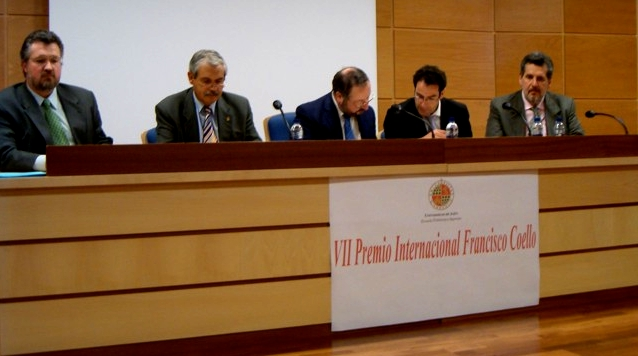 Entrega del Premio Francisco Coello en Jaén, España.