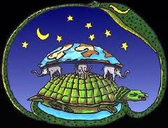 Tortuga sosteniendo la Tierra