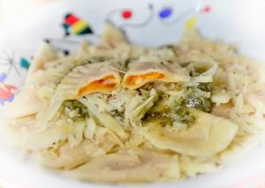 Tortellini di zucca, amaretti e parmesano