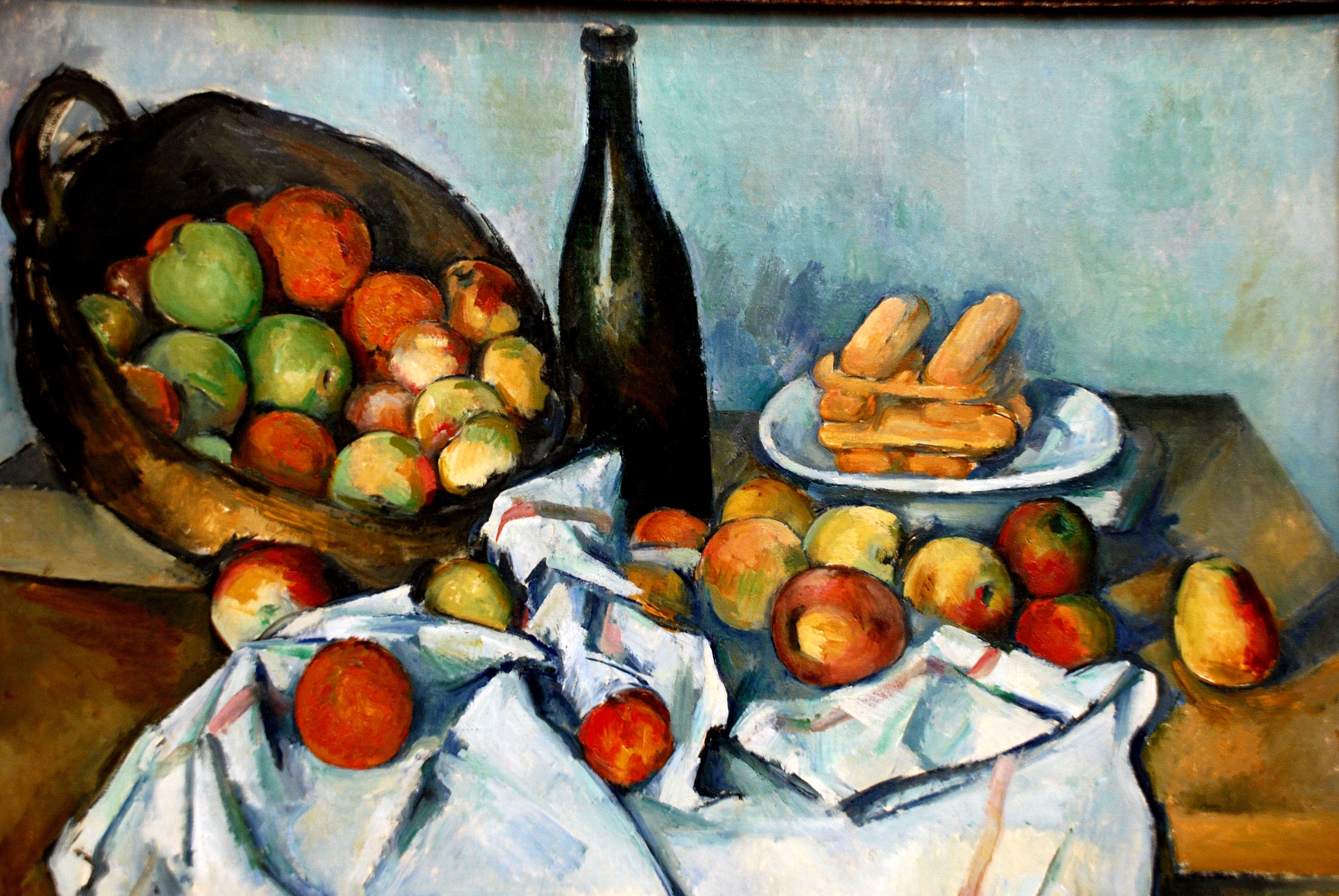 Fotografía de un cuadro de Cezane en el Instituto de Arte de Chicago.