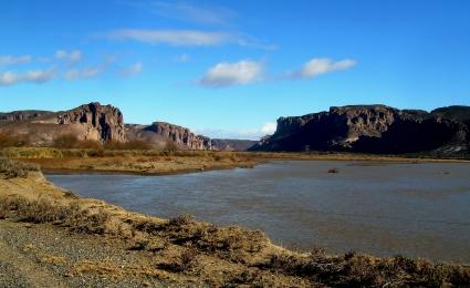 Río Chubut en Los Altares