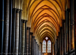 Lateral interior catedral de Salisbury