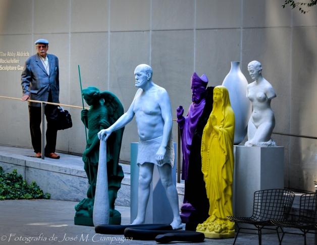 Arte en la plaza interior