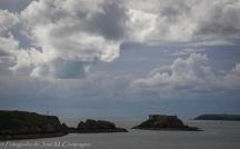 Las últimas rocas y a la mar