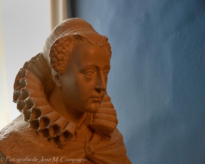 Busto de mujer en el Castillo de Edimburgo