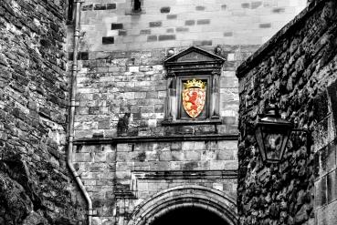 Escudo en el castillo