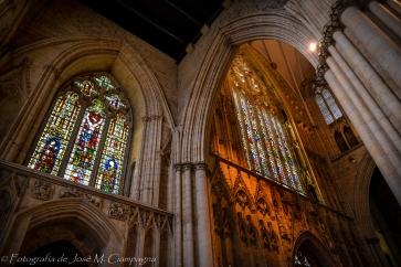 Vista interior catedral de York