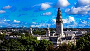 Vista de Cardiff desde la torre del castillo