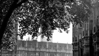 Atrás el Parlamento