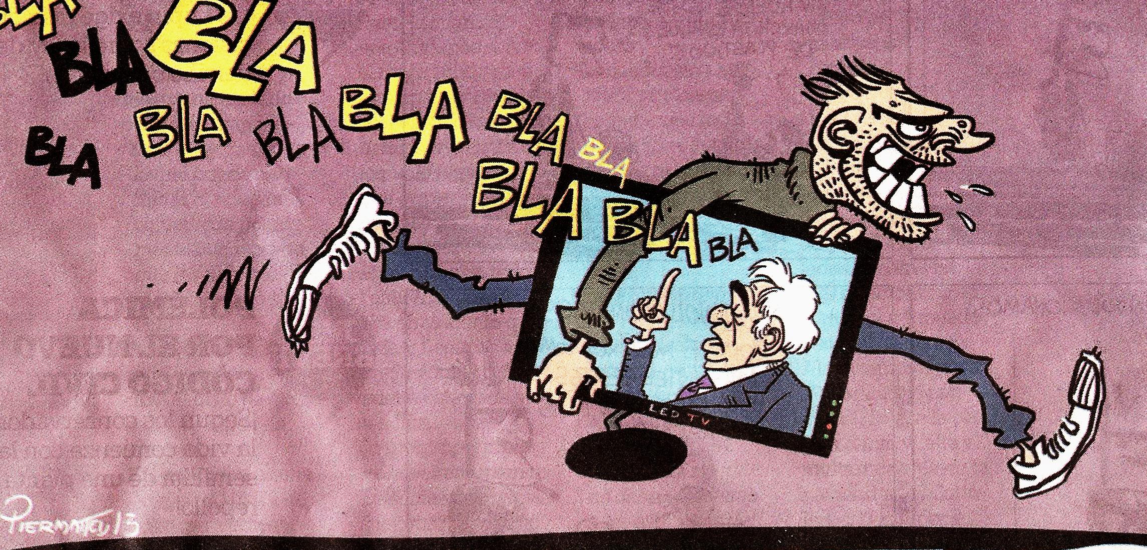 """Saqueos 4 dic 2013 Dibujo realizado por el artista Piermatei en el suplemento: HumorconVoz del diario: """"La Voz del Interior"""", edición del 8 de diciembre del 2013"""