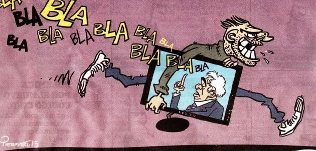 """Saqueos 4 dic 2013 Copia del dibujo realizado por el artista Piermatei en el suplemento: HumorconVoz del diario: """"La Voz del Interior"""", edición del 8 de diciembre del 2013"""