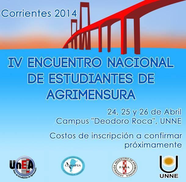IV encuentro nacional de estudiantes  de agrimensura