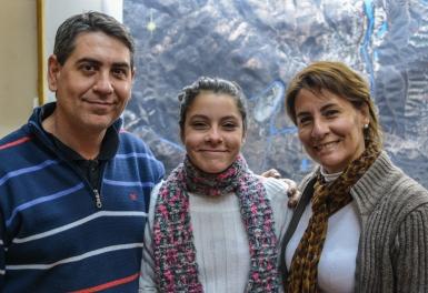 Sonia Casini y familia