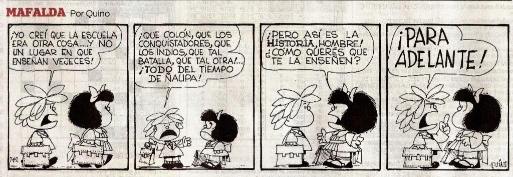 Para adelante, Mafalda por Quino