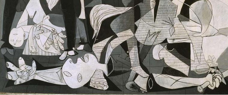 """Fragmento del cuadro de Pablo Picasso denominado """"Guernica"""""""