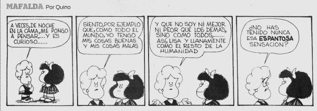Ser común. Fuente:  Mafalda de Quino
