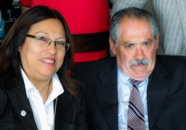 Lucrecia Galván y Iber Goitea