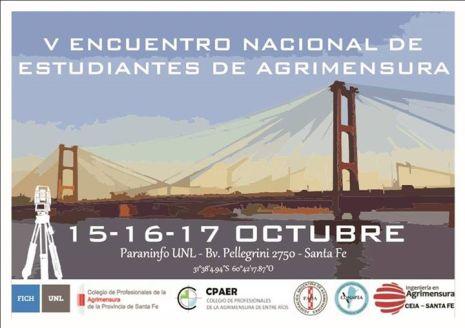 V Encuentro nacional de estudiantes de Agrimensura