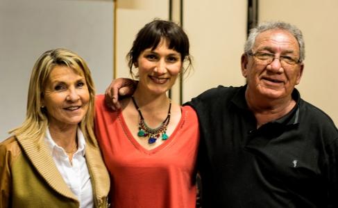 Marcela Candia y sus padres