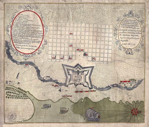 Cartografía de la Ciudad de Buenos Aires. 1713.