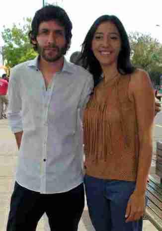 Nacho Doporto y esposa