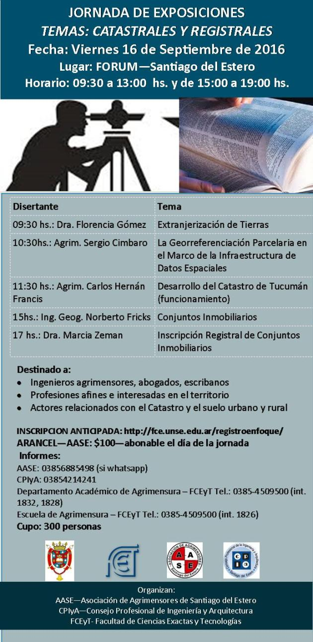 JORNADA CATASTRAL Y REGISTRAL SANTIAGO DEL ESTERO