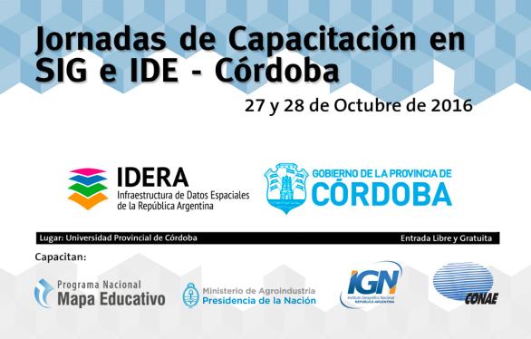 Jornadas IDE en Córdoba - Octubre 2016