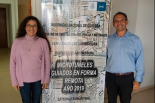 Ingenieros Javier Isola y Paola Ruiz