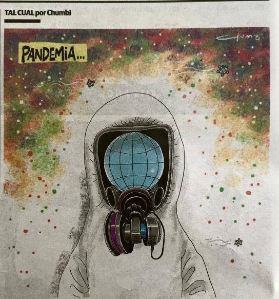 Ilustración del suceso que nos está afectando, rescatada del diario la Voz del interior