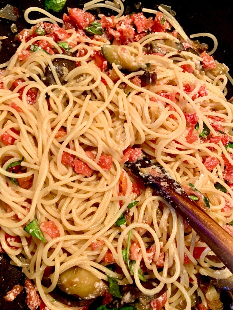 spaghetti alle melanzale