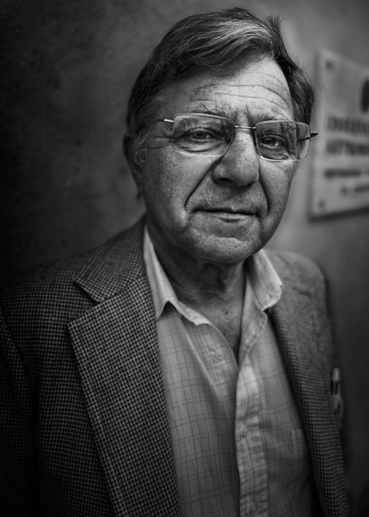 Retrato de Mario Cuomo realizado por José M. Ciampagna